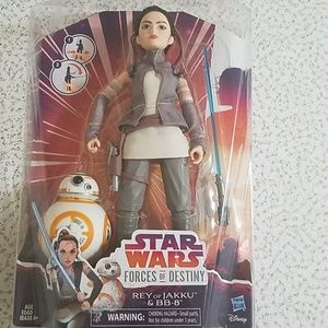 Stars Wars Forces of Destiny Rey of Jakku and BB-